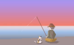 【入間川ドットアニメ】例の釣り好きおじさん